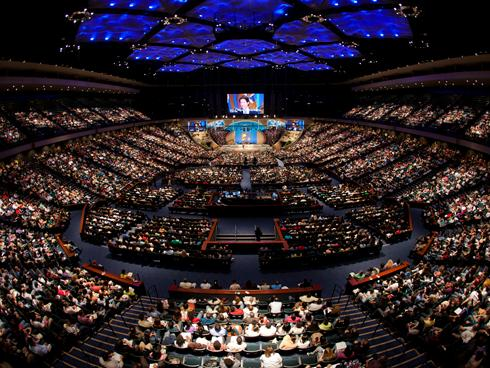 Joel Osteen's Lakewood Church in Houston, Texas. One of the nation's largest Protestant churches. Photo credit: content.usatoday.com