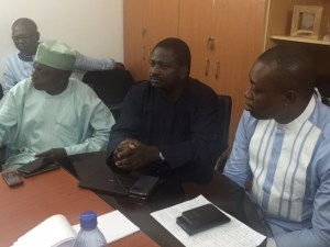 GOCOP dinner: L-R: Senior Special Assistant on Media to the President, Malam Garba Shehu; Special Adviser on Media to the President, Mr. Femi Adesina; and the President, Guild of Corporate Online Publishers (GOCOP), Malachy Agbo, at the dinner for the presidential spokesmen