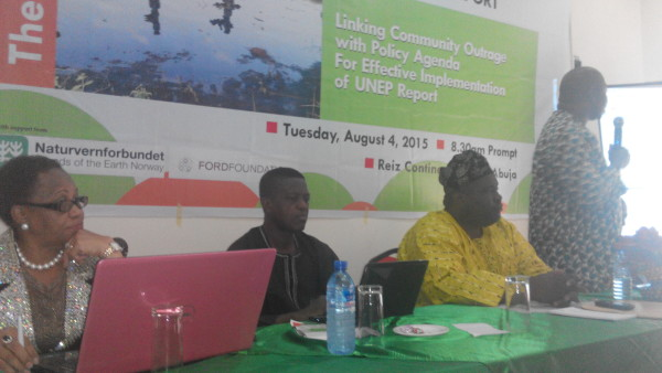 Presentation during a technical session  Photos: ERA/FoEN seeks implementation of Ogoniland UNEP report IMG 20150804 122723 e1438754198198