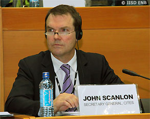 John E. Scanlon, Secretary-General, Convention on International Trade in Endangered Species of Wild Fauna and Flora (CITES). The new campaign aims at protecting wildlife. Photo credit: cities.org