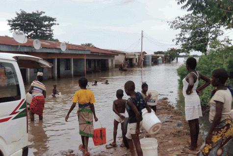 Flooding in Makurdi. Photo credit: Sahara Reporters