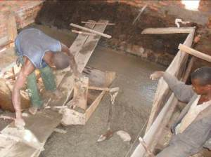 Construction of machine foundation underway at the Power House  Micro-hydro scheme to transform Malawian communities Malawi