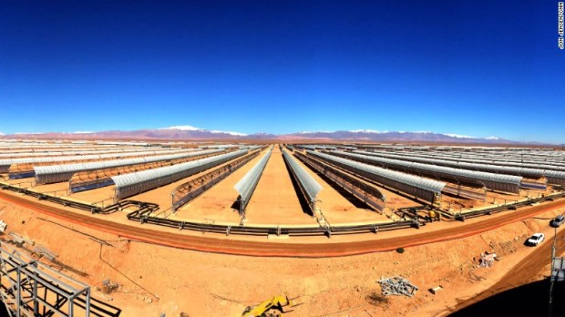 The plant is being constructed in a 30 square kilometre area outside the city of Ouarzazate, on the fringe of the Sahara desert  Morocco builds world's largest concentrated solar power plant solar