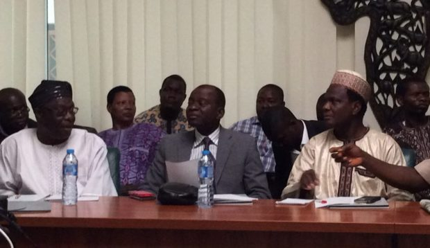 Some participants at the Dialogue (Front row, L-R): Prof. Emmanuel Oladipo, Prof. Francis Adesina and Prof. Daniel Gwary