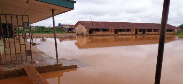 Lectures in progress, under the mercy of mosquitoes and water-borne diseases  A tale of a primary school in distress in Edo State School 2