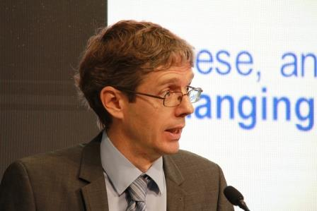 Dr Diarmid Campbell-Lendrum, lead scientist on climate change at WHO. Photo credit: graduateinstitute.ch
