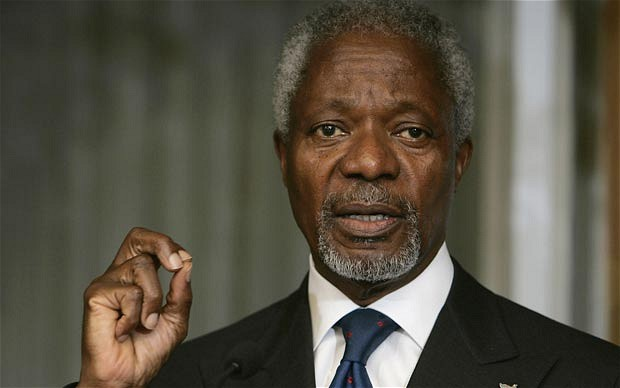 Kofi Annan, chair of the Africa Progress Panel