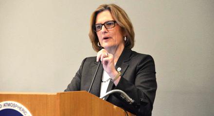 GEO's US Co-Chair, Dr Kathryn Sullivan