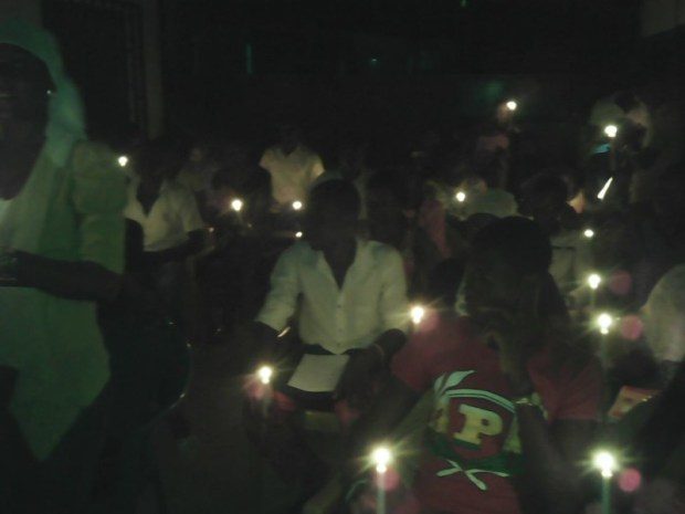 Earth Hour celebration in Lome, Togo