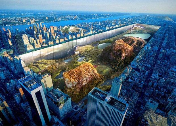 New York Horizon envisions a sunken Central Park wrapped with a mixed-use megastructure