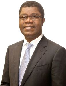 Thierry Zomahoun, NEF Chairperson and President and CEO of the African Institute for Mathematical Sciences (AIMS)  Forum pledges to develop young scientists, invest in basic sciences Thierry Zomahoun NEF 231x300