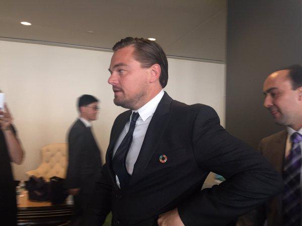 American actor, film producer and environmental campaigner, Leonardo Dicaprio
