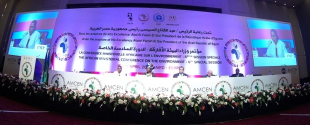 Opening session of the AMCEN6 in Cairo, Egypt