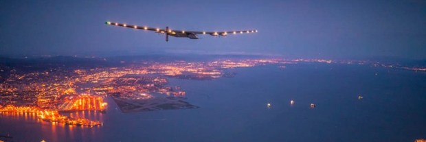 Solar Impulse prepares to land in San Francisco after a three-day Pacific Ocean crossing