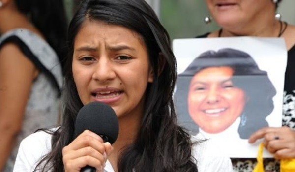 Laura Zuñiga Cáceres. Photo credit: nodal.am  Laura Zuñiga, slain Berta Cáceres' daughter, demands justice LAURA ZU  IGA