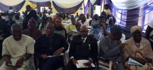 Faces at the Service of Songs & Tributes: Dr. C. L. Odimuko (Past President of the NITP), Tpl Waheed Kadiri (Past President of the NITP), Tpl Toyin Ayinde (former Lagos State Commissioner for Physical Planning & Urban Development), Tpl Mrs Catherine George (for Chairman, Lagos NITP), Tpl Moses Ogunleye (former Chairman, Lagos NITP), Tpl Bunmi Adeyeye (former Chairman, Lagos NITP) and Tpl Olaide Afolabi