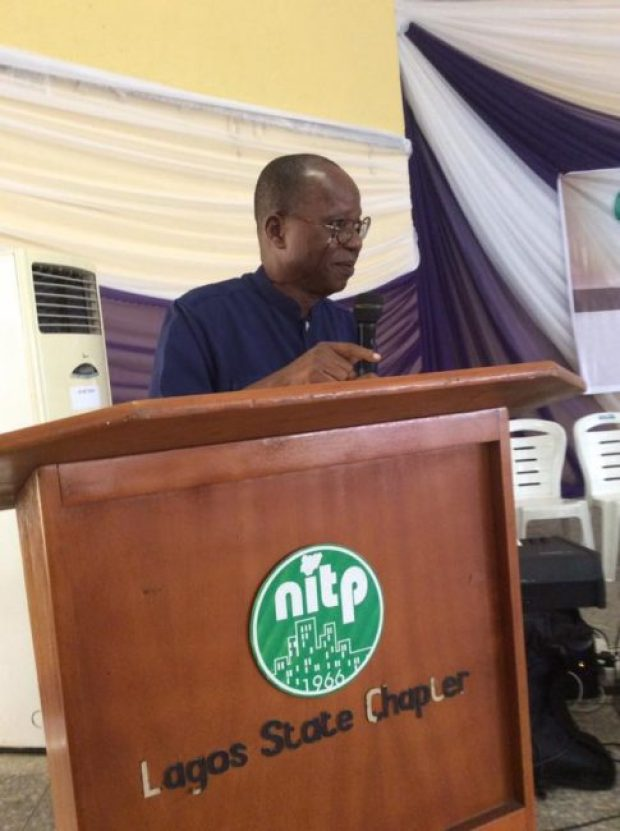 Tpl (Dr) Moses Olubunmi Ajayi (Past President of the NITP) at the Service of Songs & Tributes