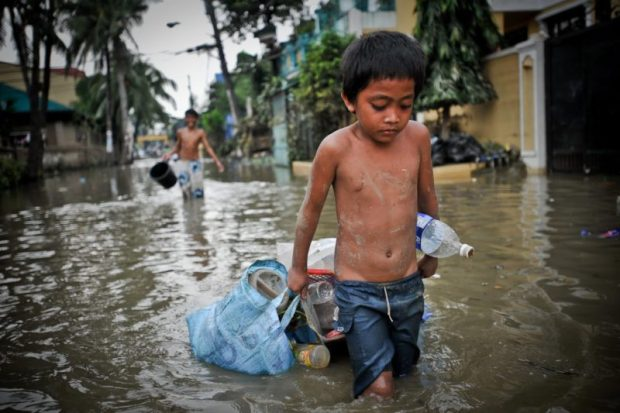 The report warns that climate change is a dangerous and disruptive force for many children around the world and is particularly impacting the most vulnerable