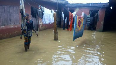 A flooded household in Kaduna