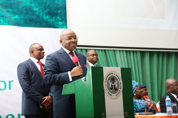 Governor Udom Emmanuel  Government commences N1.07b erosion control project in Akwa Ibom Udom