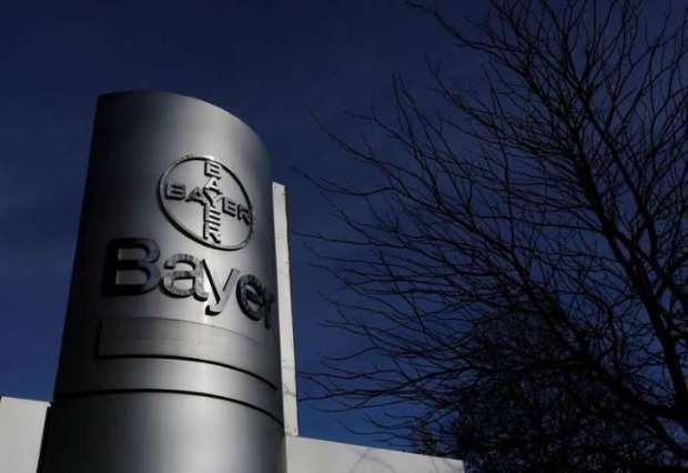 The logo of Bayer AG is pictured at the Bayer Healthcare subgroup production plant in Wuppertal. Photo credit: REUTERS/Ina Fassbender/File