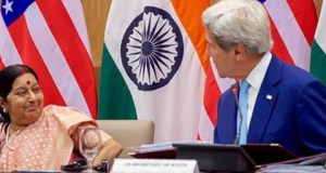 Sushma Swaraj  India, US commit to implement Paris Agreement departmentofstate