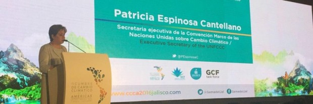 Executive Secretary of the United Nations Framework Convention on Climate Change (UNFCCC), Patricia Espinosa, addressing the second Climate Change Summit of the Americas