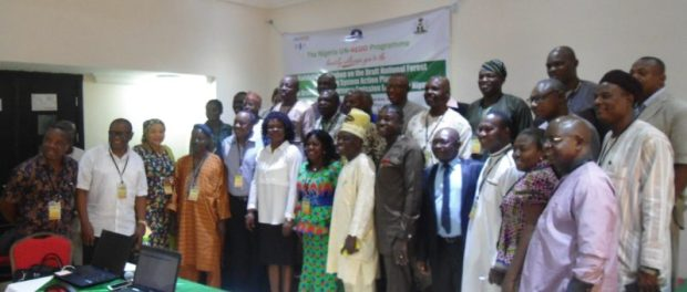 Participants at the validation workshop that, among others, reviewed that the draft FRELs/FRLs, which aims to establish a reference point from which actual emissions are compared  Emissions: Cross River's carbon law emerges as REDD+ action plan is validated DSC01184 e1475469274862