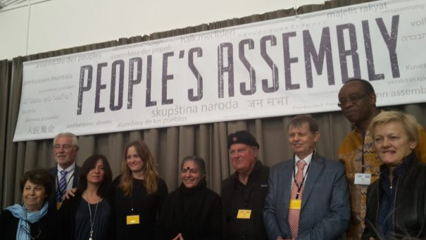 Speakers and organising committee members of the Monsanto Tribunal & People's Assembly