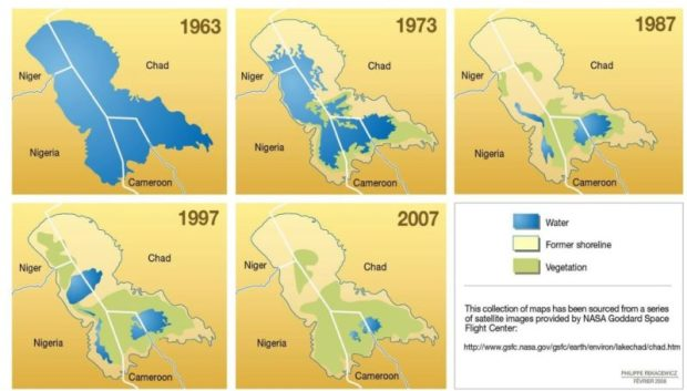 The climate variability impact on Lake Chad has also worsened the abundance and conservation status of biodiversity. Photo credit: UNEP  Nigeria's climate impact and 1.5-degree target Unep 1 e1475794760903