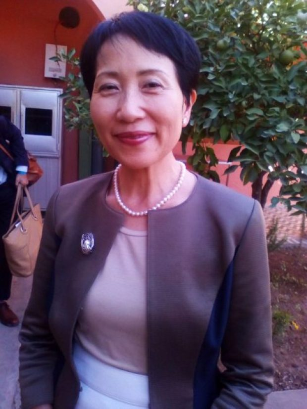Chairperson of GEF, Naoko Ishii. She says African countries can access the organisation's adaptation fund