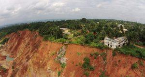 Gully erosion site