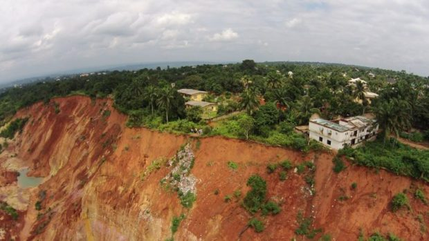 A gully erosion site in Anambra State