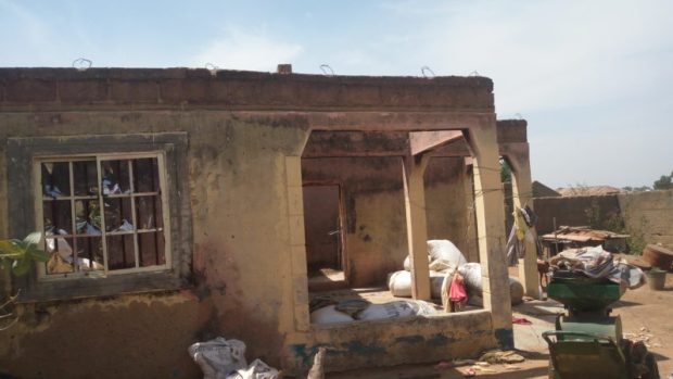 A dwelling unit in the community destroyed by Boko Haram militants