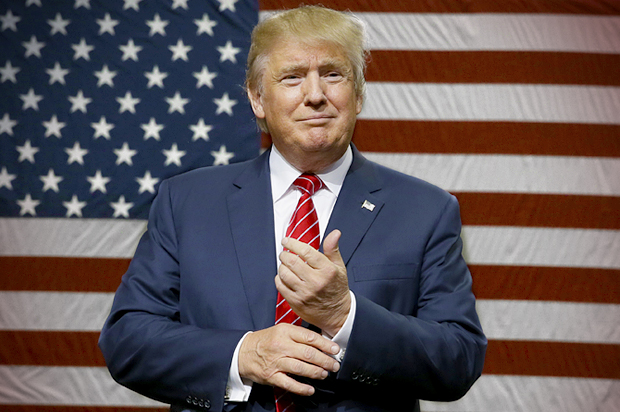 US president-elect, Donald Trump. The report includes insights about what kinds of climate change and energy policies American voters support and oppose  American voters support action on climate change donald trump flag