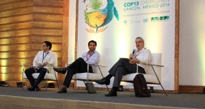 A side event at the UN Biodiversity Conference CBD/COP13 holding in Cancun, Mexico