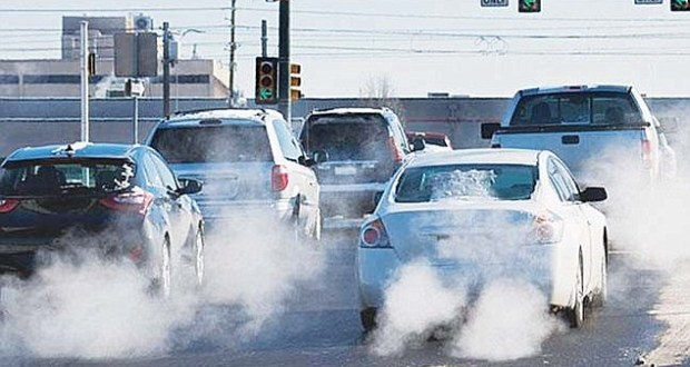 Air pollution from diesel-powered cars