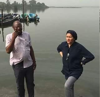 water  Images: Ministers' New Year day tour of impacted Ogoniland pollution sites Amina2