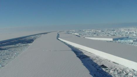 Antarctic-ice-shelf-crack