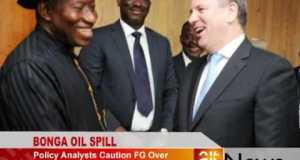 FG fines Shell Bonga oil