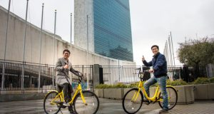 UNDP-ofo  UNDP, Chinese bike sharing platform raise climate awareness UNDP OFO bike e1493329819181