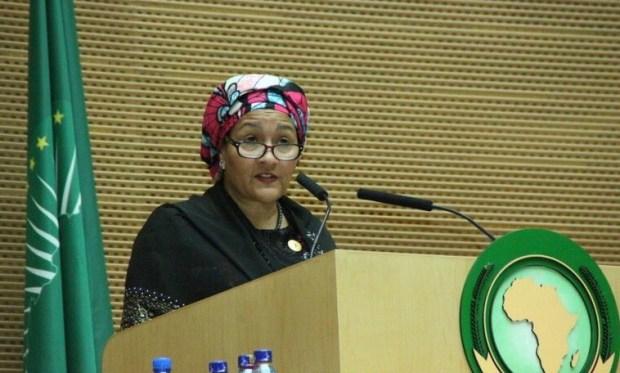 Amina Mohammed  Amina Mohammed urges Nigeria to utilise vast resources to eradicate poverty Amina Mohammed
