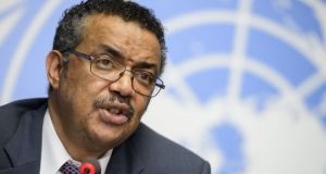 Dr Tedros Adhanom Ghebreyesus  Ebola may be declared over in DRC by mid-April – WHO Tedros Adhanom Ghebreyesus