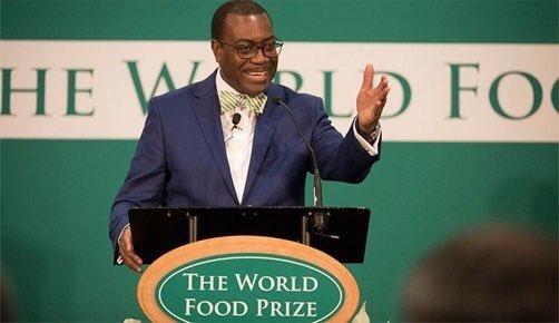 Dr Akinwumi Adesina  WFP laureate, Adesina, inaugurates $250,000 youths-in-agriculture award WFP