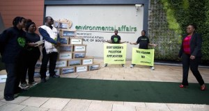 Greenpeace  Proposed nuclear power station: Activists shutdown South Africa's environment ministry Greenpeace