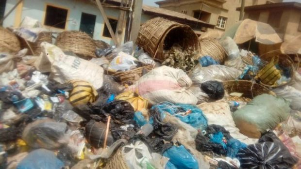 Lagos refuse  Images: Concern as refuse litters Lagos streets IMG 20180115 150120 e1516027409967