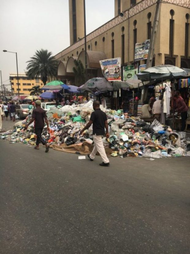 Lagos refuse  Images: Concern as refuse litters Lagos streets IMG 20180115 150204 e1516027723917