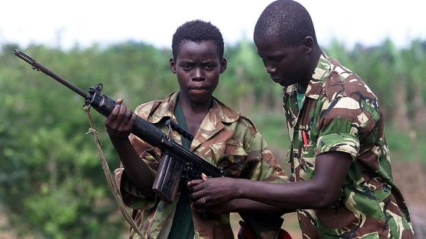 Child soldier  South Sudan rebels release 210 child soldiers Child soldier e1526653296623