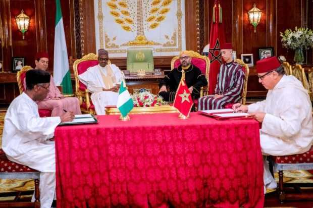 Nigeria-Morocco Agreement  Nigeria, Morocco sign agreements on regional gas pipeline, chemical plant Agreement e1528728523392