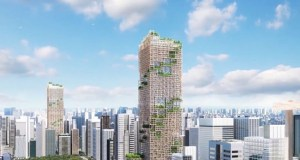 timber-tower-tokyo-japan  Buildings can become a carbon sink if made from wood timber tower tokyo japan